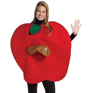 Apple with Worm Costume 🍎